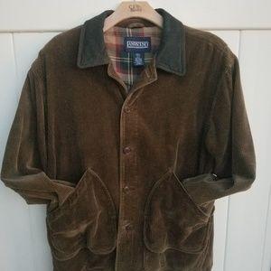 Land's End Brown Corduroy / Plaid Jacket  EUC  Men